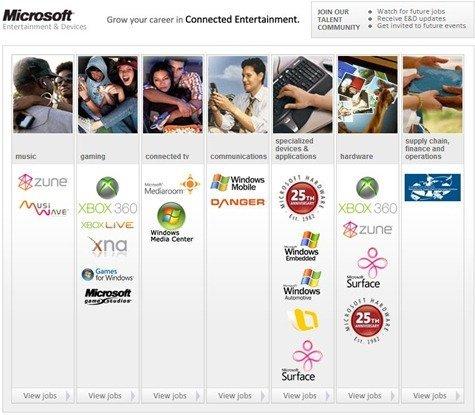 Microsoft Entertainment Jobs