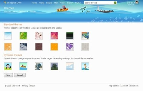 Themes - Windows Live - Windows Internet Explorer