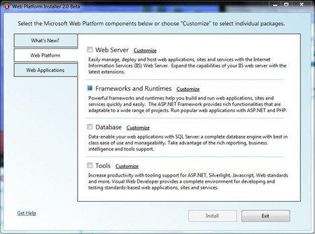 Web Platform Installer 2.0 Beta