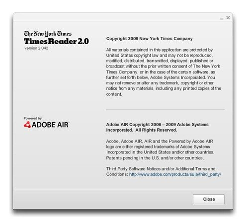 About Box for the New York Times Reader