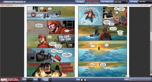 Free Sample Eminem Punisher Comic DigiComic Marvel