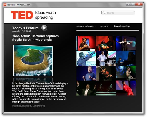 Silverlight 3 TED Video Player - thirteen23.com