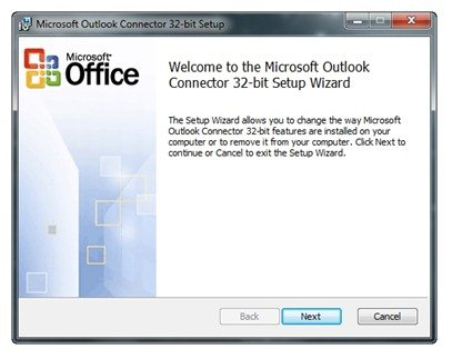Microsoft Outlook Connector 32-bit Setup