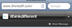 ithinkdifferent Direct Message