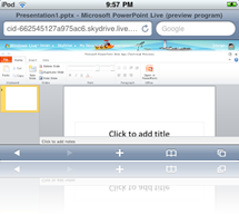 Using Office Web Apps on an iPod Touch or an iPhone