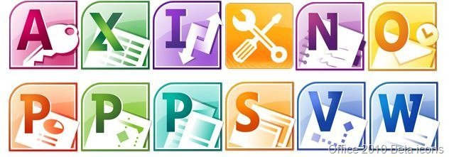 Office 2010 Beta icons