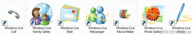Windows Live Wave 3 icons