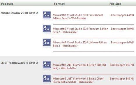 Visual Studio 2010 Beta 2 versions