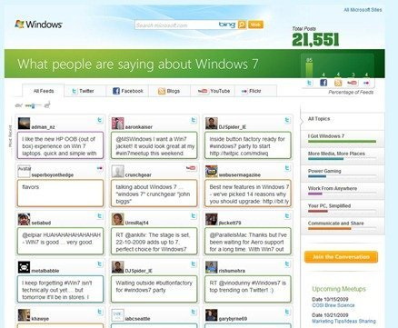 Windows 7 Social