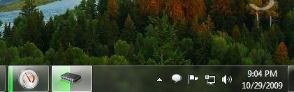 Windows 7 taskbar meters