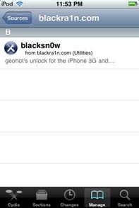 blacksn0w Cydia blackra1n