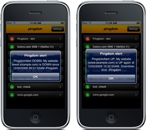 Pingdom app for iPhone updated to version 2.0; must have app for bloggers and webmasters
