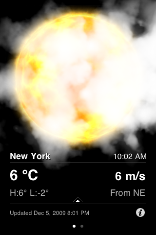 HTC inspired weather app for the iPhone and iPod Touch