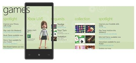 Windows Phone 7 Series Xbox Live Hub