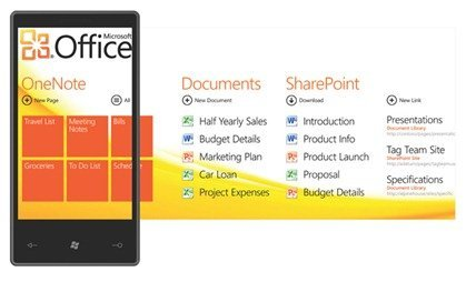 Windows Phone 7 Series Office hub
