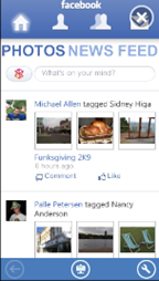 Facebook app for Zune HD