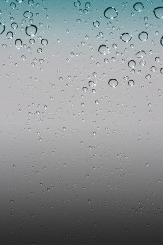 Default Rain Drops iPhone OS 4 Wallpaper