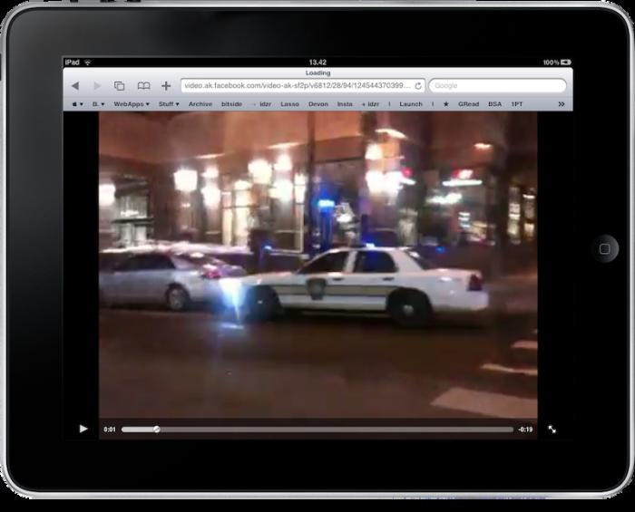 Facebook iPad videos