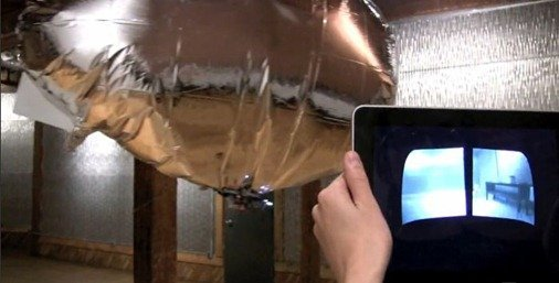 Blimp controlled by an iPad