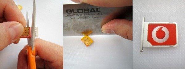 Create a Micro SIM card from a regular SIM card