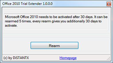 Office 2010 Trial Extender Tool