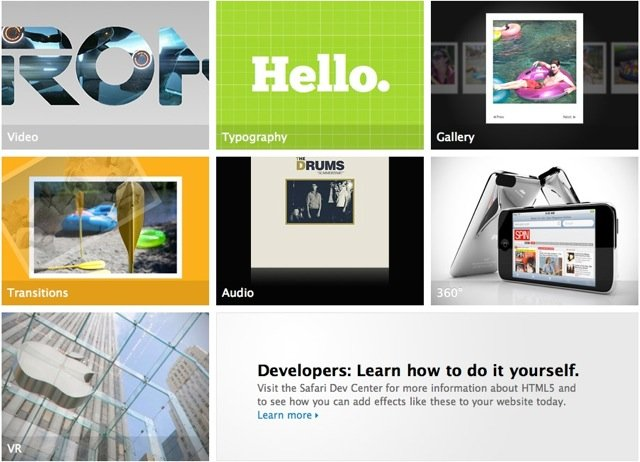 Apple - HTML5 Showcase