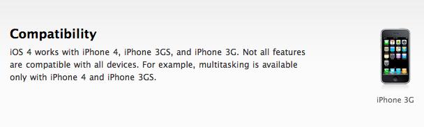 iOS 4 on iPhone 3G