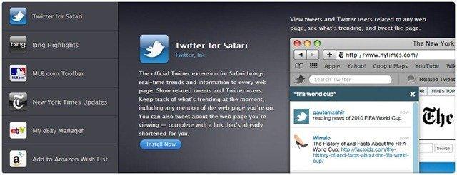 Apple Safari Extensions