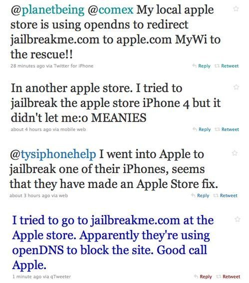 Apple store blocks jailbreak.me
