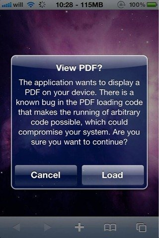 HOWTOFix The PDF Exploit After Jailbreaking With JailbreakMe