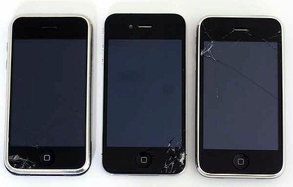 iPHone 4 has similar break pattern
