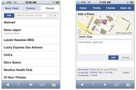 iPhone App with Facebook Places