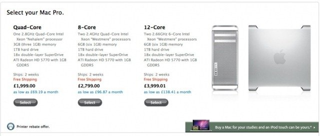 new mac pros with 12 cores