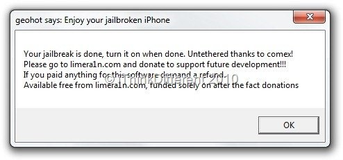 Jailbreak iPhone 3GS/iPhone 4 on iOS 4.1 using limera1n 8