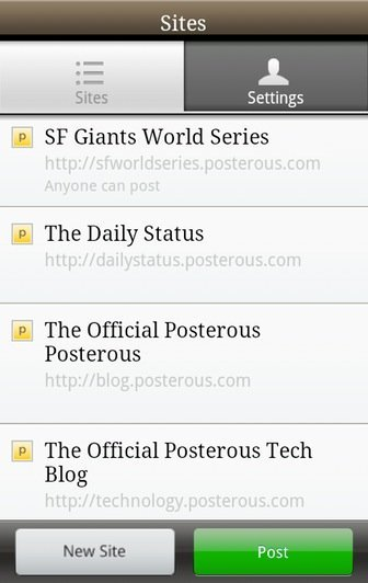 Posterous App for Android 1