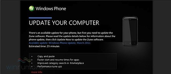 Download Windows Phone 7 NoDo update