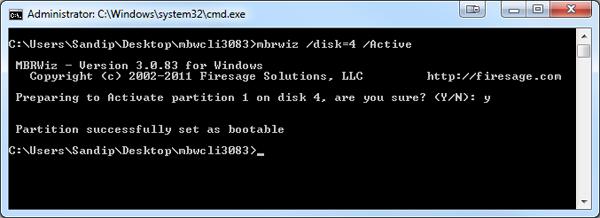Make Disk Active