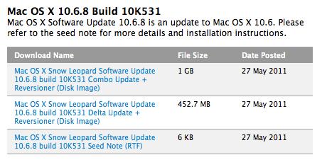 MacOSX 10.6.8