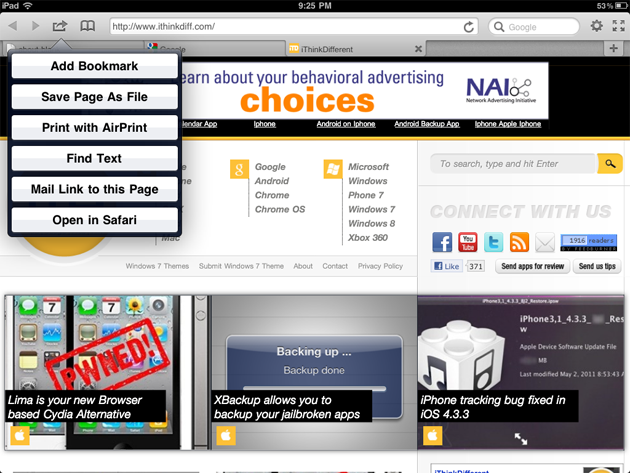 App Review: Terra Browser for iPad