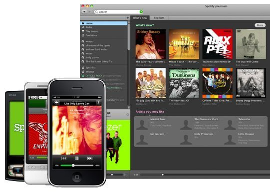 whatisspotify client and phones