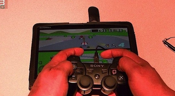 PlayStation 3 Controller with Motorola XOOM
