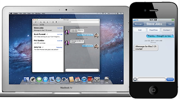 iMessage For Mac OS X Lion Concept