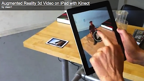 iPad used with Kinect for new Augmented Reality Hack!