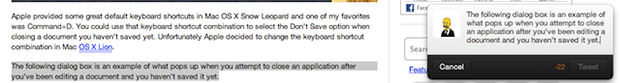 Tweet from anywhere inside of Mac OSX Lion [How To]