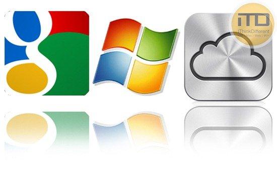 Google Services vs Apple iCloud vs Windows Live Services