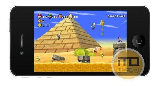 Super Mario On iPhone-iOS