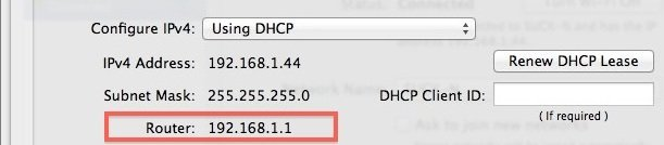 get router ip address mac