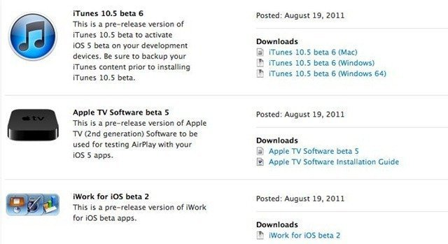 Apple Releases iOS 5 Beta 6 for iPhone, iPod Touch and iPad