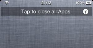 Quickly Close All Running Apps on iPhone with Weekillbackground Tweak for iOS5