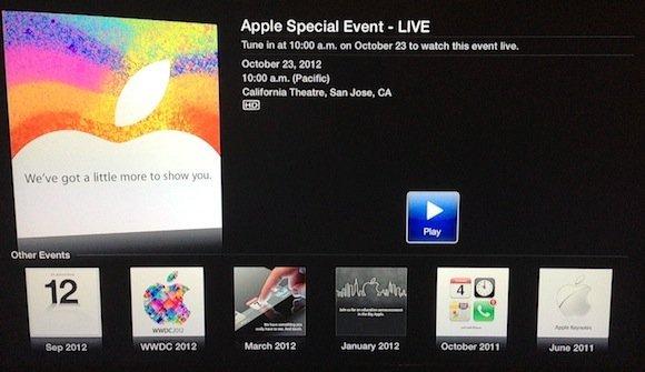 ipad mini event stream 2